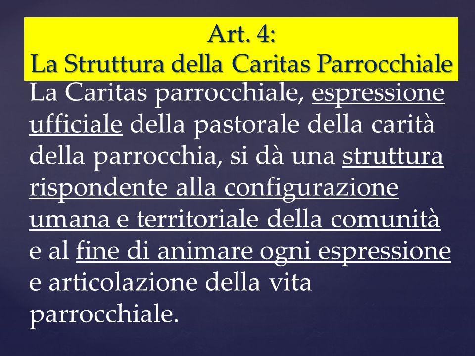 La Struttura della Caritas Parrocchiale