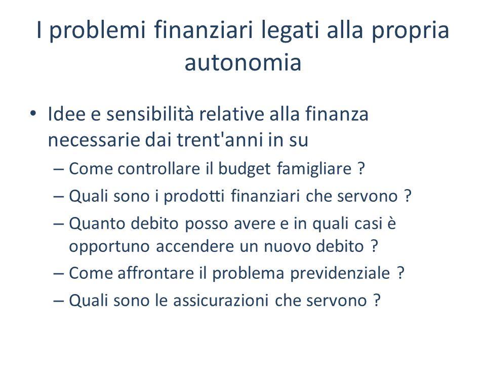I problemi finanziari legati alla propria autonomia