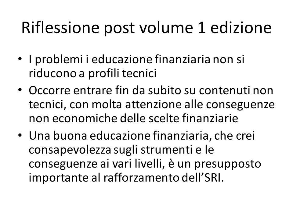 Riflessione post volume 1 edizione