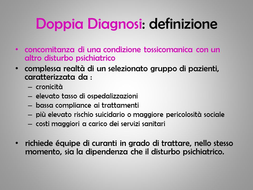 Doppia Diagnosi: definizione