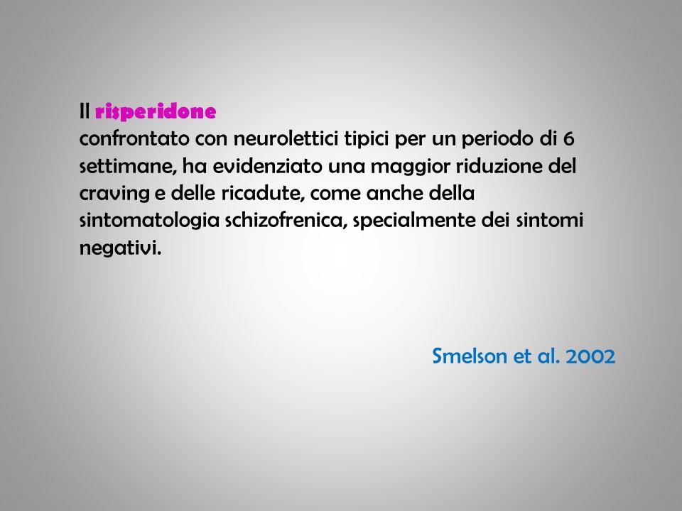 Il risperidone confrontato con neurolettici tipici per un periodo di 6.