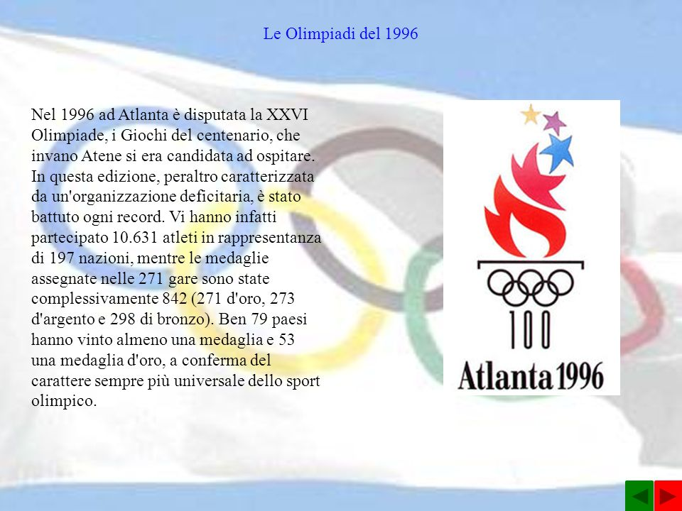 Le Olimpiadi del 1996