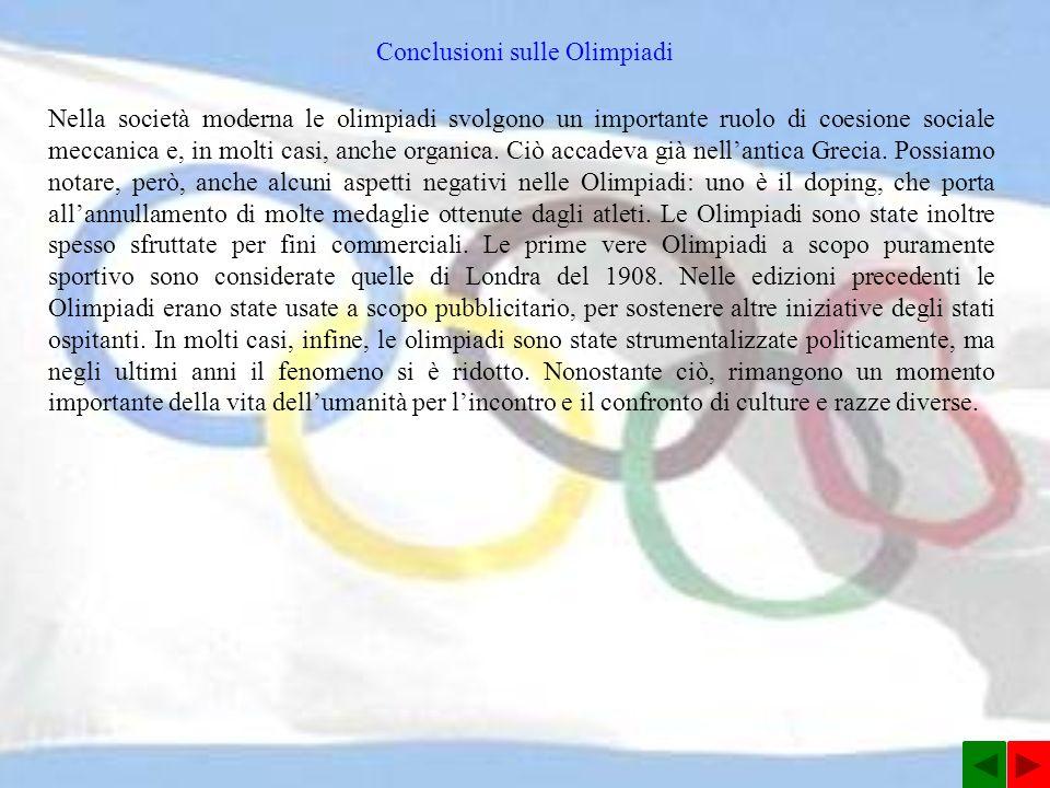 Conclusioni sulle Olimpiadi