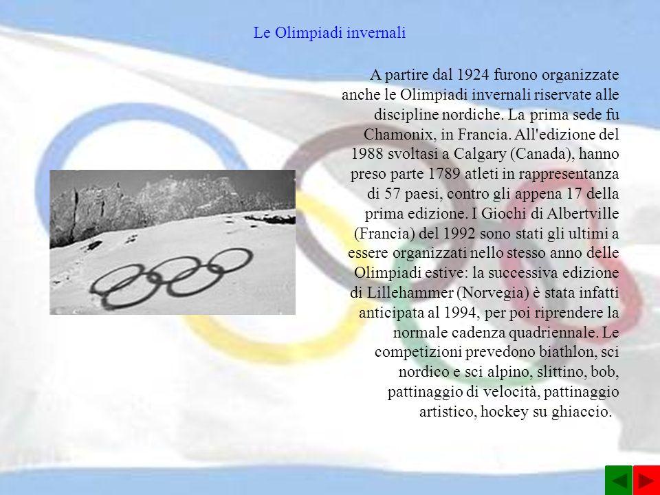 Le Olimpiadi invernali
