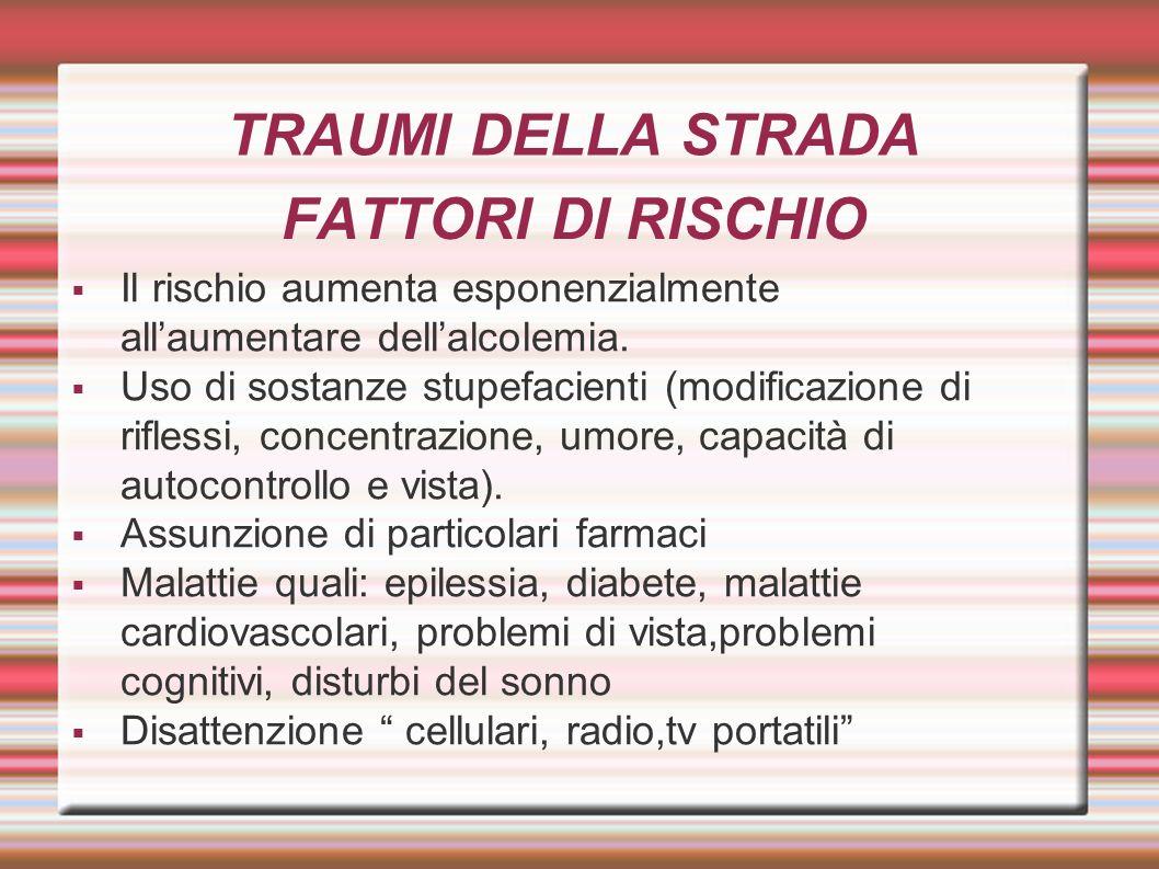 TRAUMI DELLA STRADA FATTORI DI RISCHIO