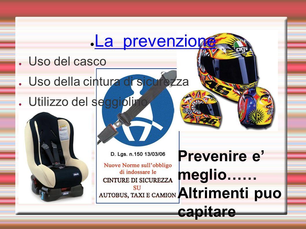 La prevenzione Prevenire e' meglio…… Altrimenti puo capitare