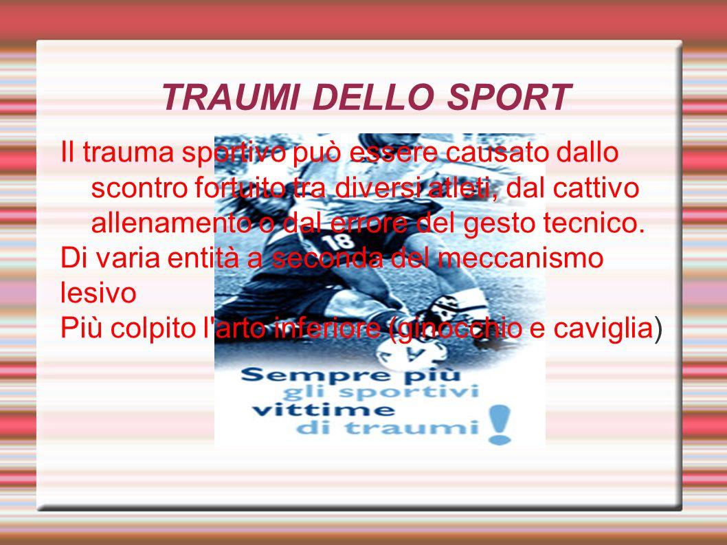 TRAUMI DELLO SPORT