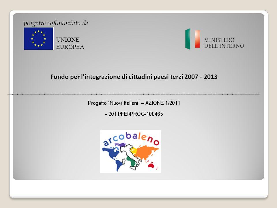 Fondo per l'integrazione di cittadini paesi terzi 2007 - 2013