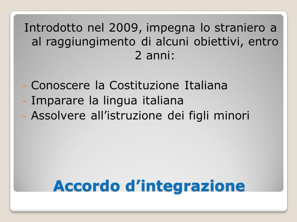 Accordo d'integrazione