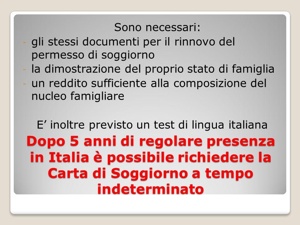 Stunning Test Della Lingua Italiana Per Carta Di Soggiorno Ideas ...