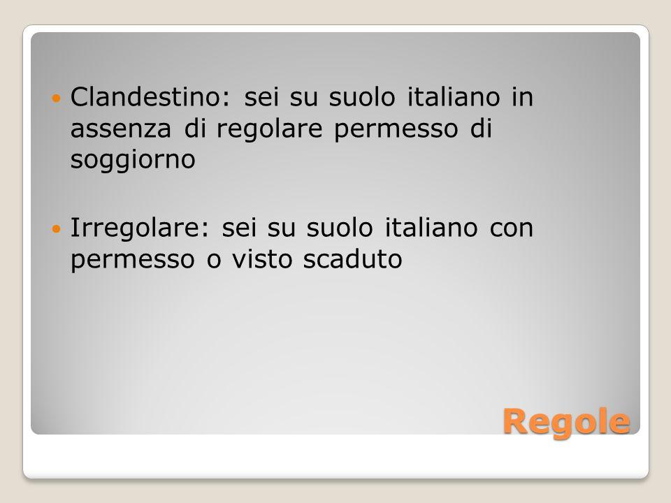 Clandestino: sei su suolo italiano in assenza di regolare permesso di soggiorno