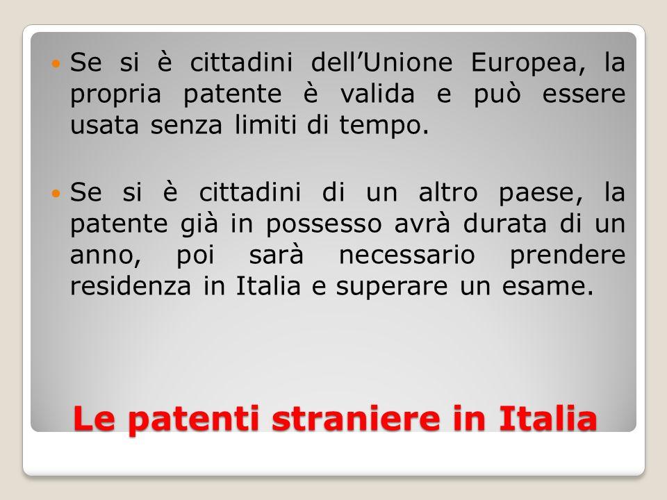 Le patenti straniere in Italia