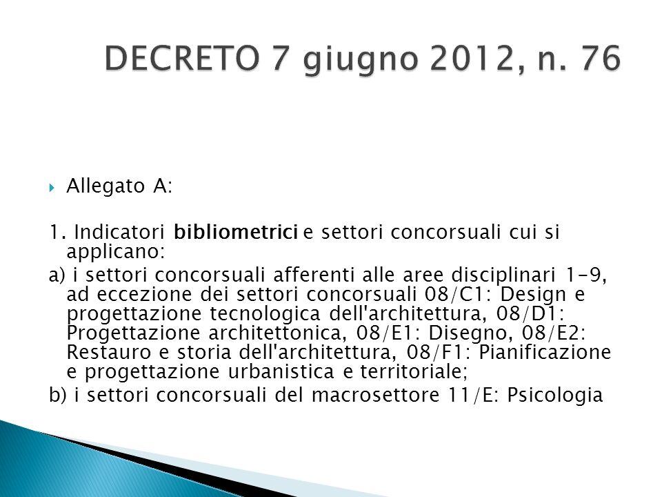 DECRETO 7 giugno 2012, n. 76 Allegato A:
