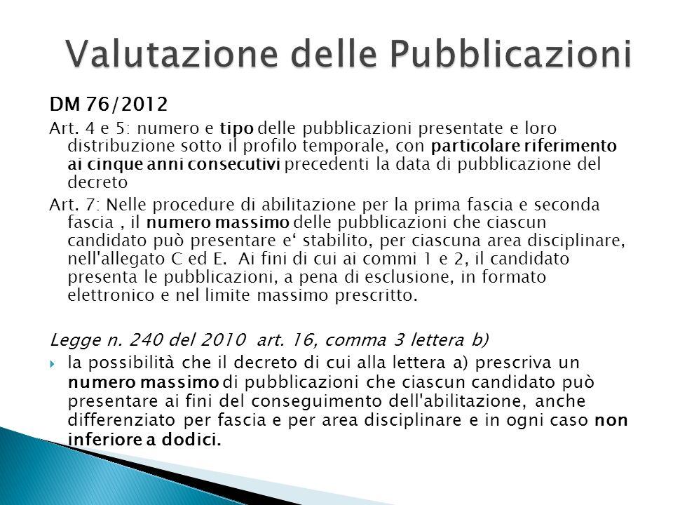 Valutazione delle Pubblicazioni