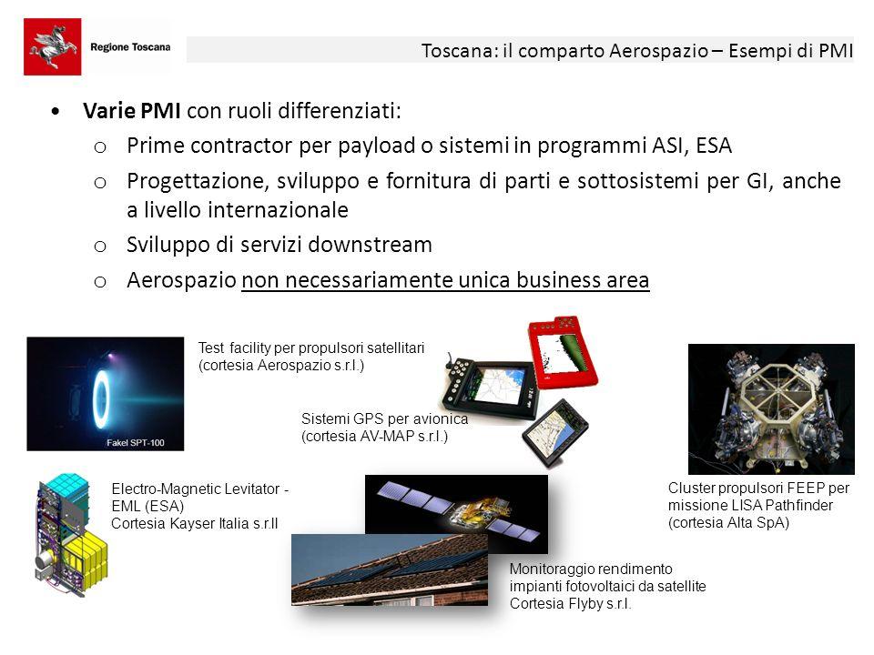Varie PMI con ruoli differenziati: