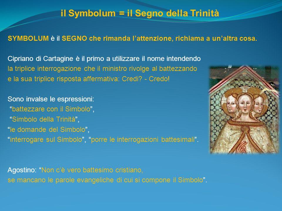 il Symbolum = il Segno della Trinità