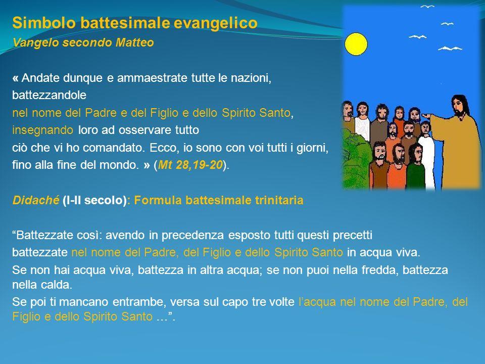 Simbolo battesimale evangelico