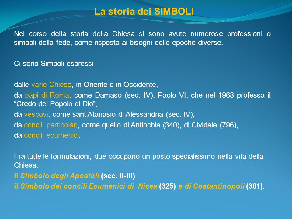 La storia dei SIMBOLI