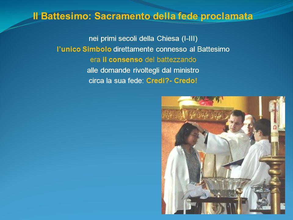 Il Battesimo: Sacramento della fede proclamata