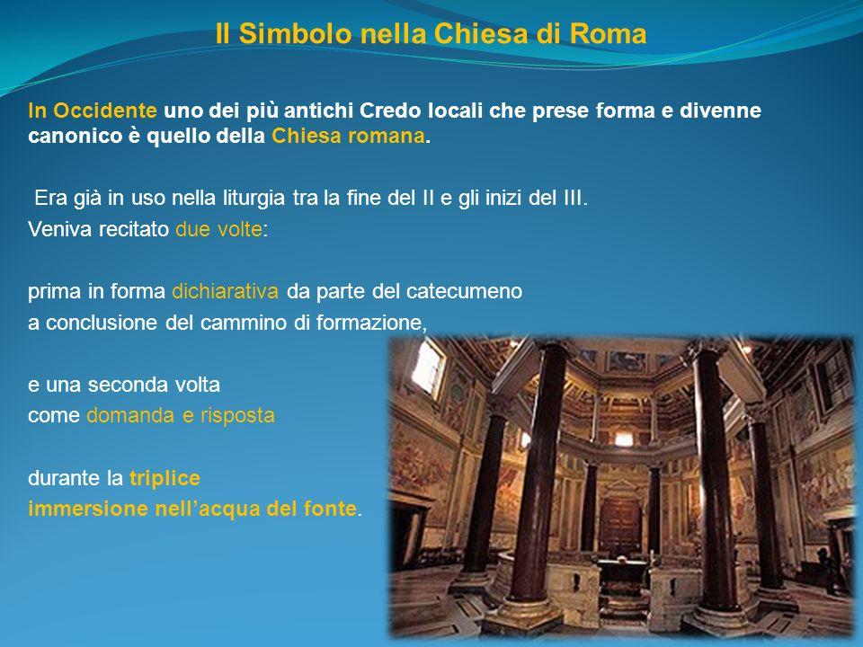 Il Simbolo nella Chiesa di Roma