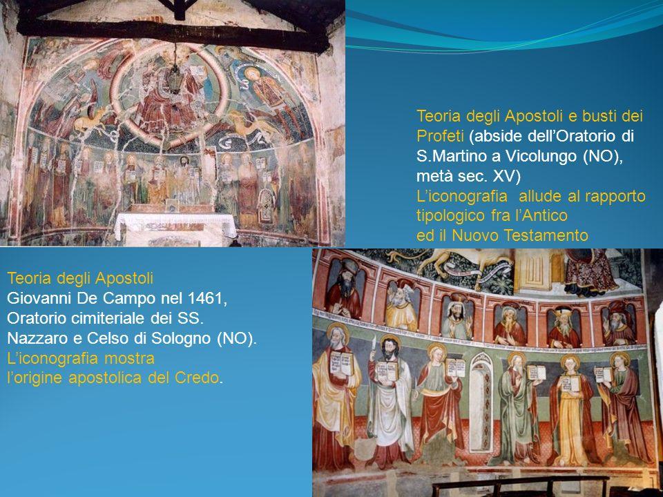 Teoria degli Apostoli e busti dei Profeti (abside dell'Oratorio di S