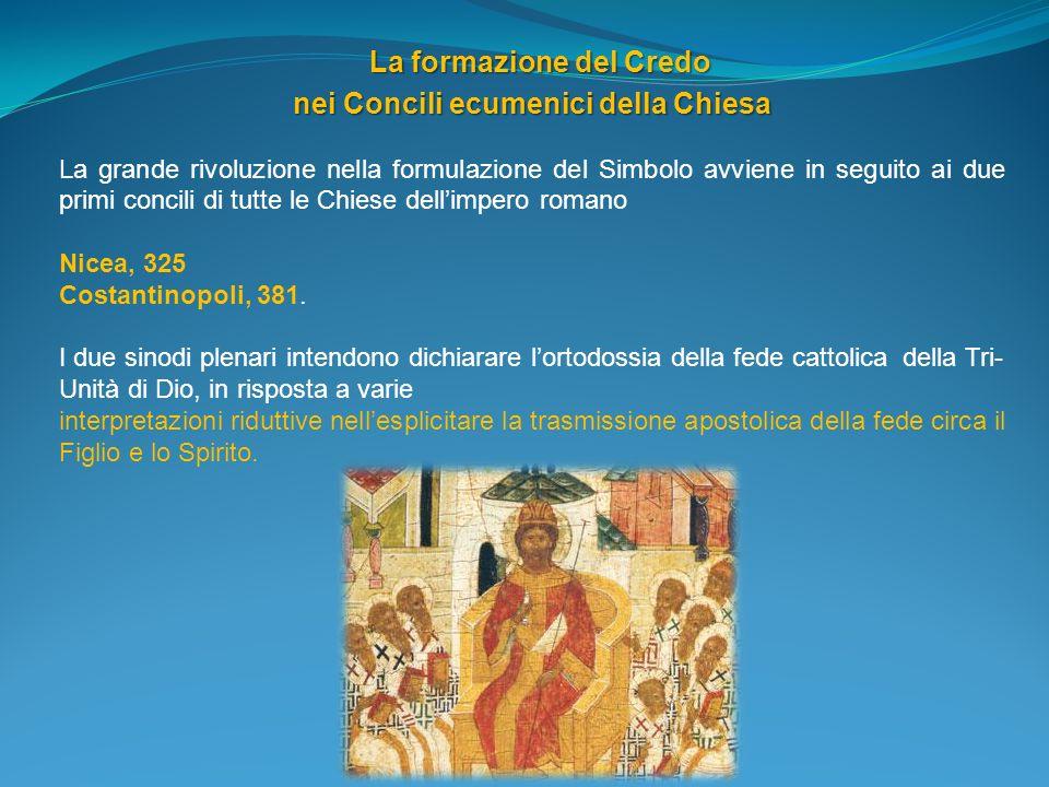 La formazione del Credo nei Concili ecumenici della Chiesa