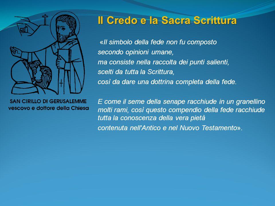 Il Credo e la Sacra Scrittura