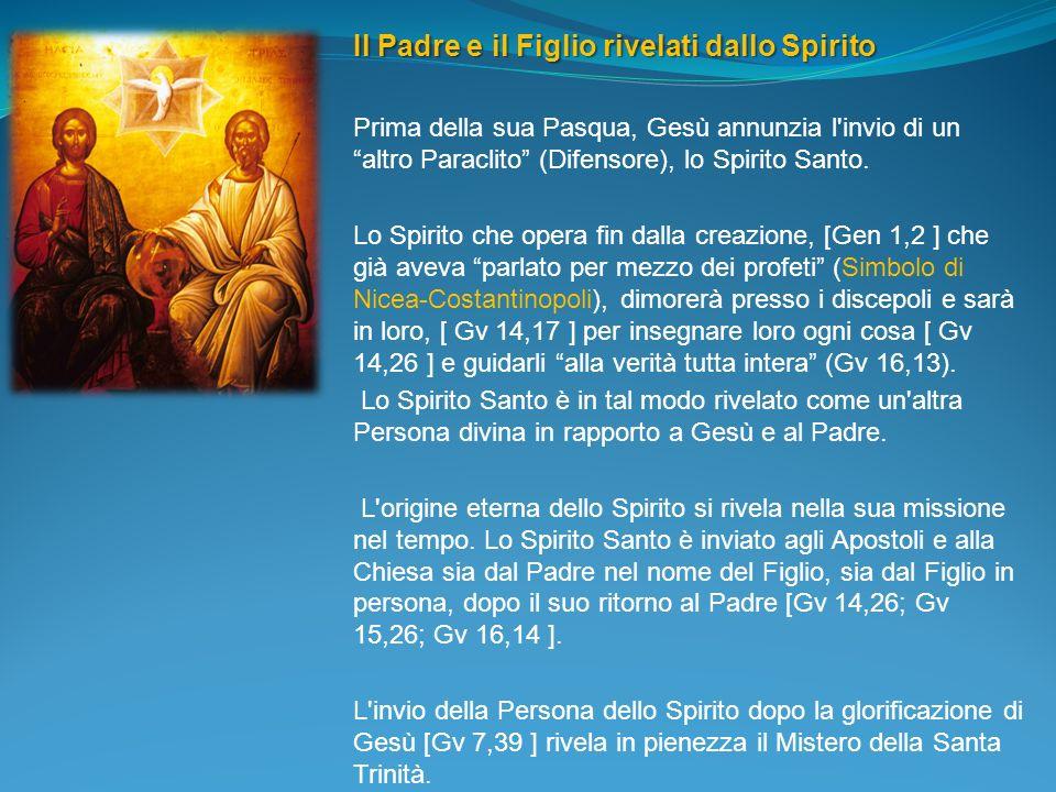Il Padre e il Figlio rivelati dallo Spirito