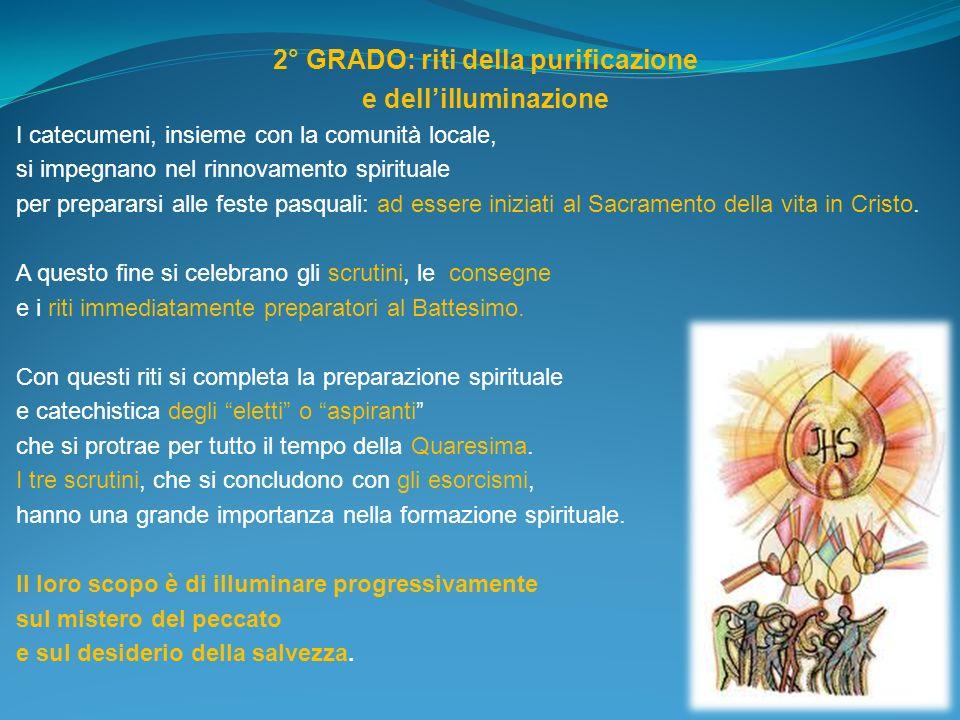 2° GRADO: riti della purificazione
