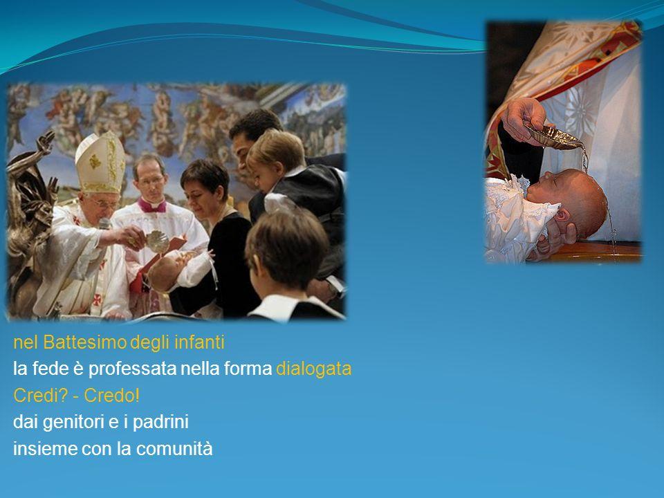 nel Battesimo degli infanti