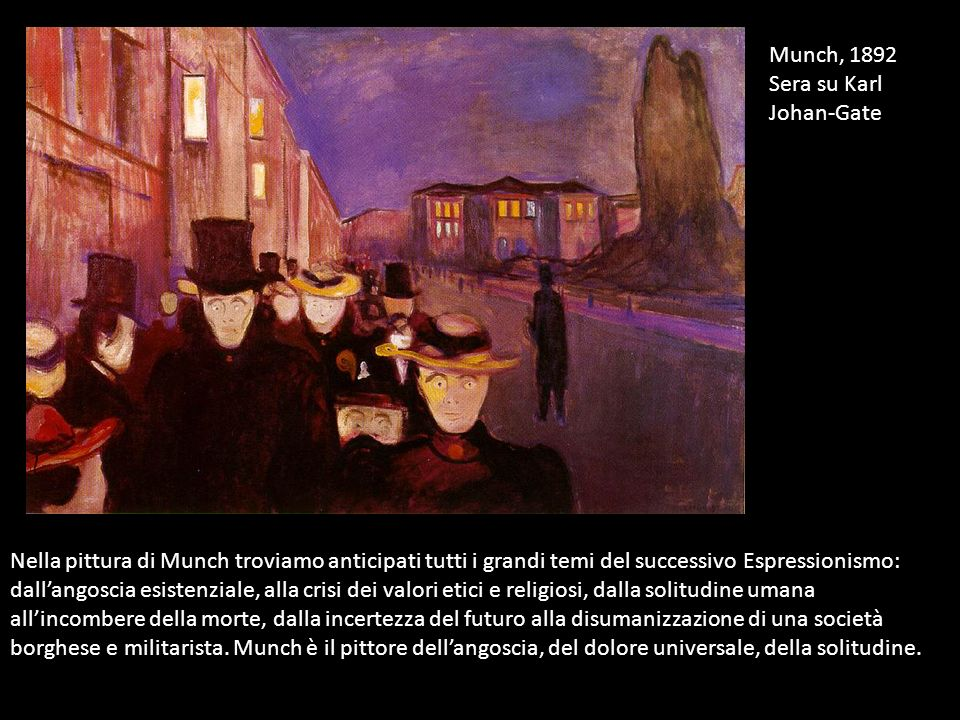 Munch, 1892 Sera su Karl Johan-Gate.