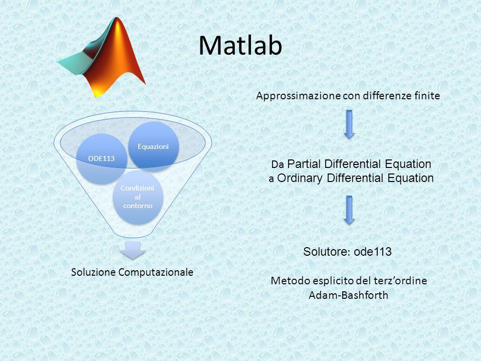 Matlab Approssimazione con differenze finite
