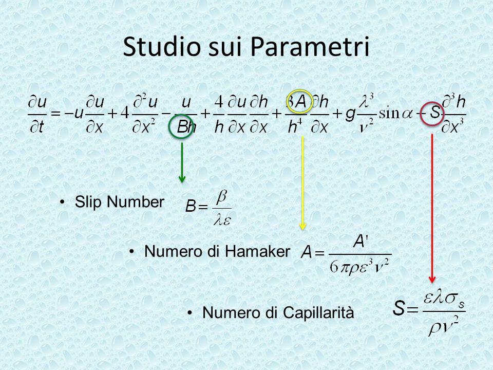 Studio sui Parametri Slip Number Numero di Hamaker