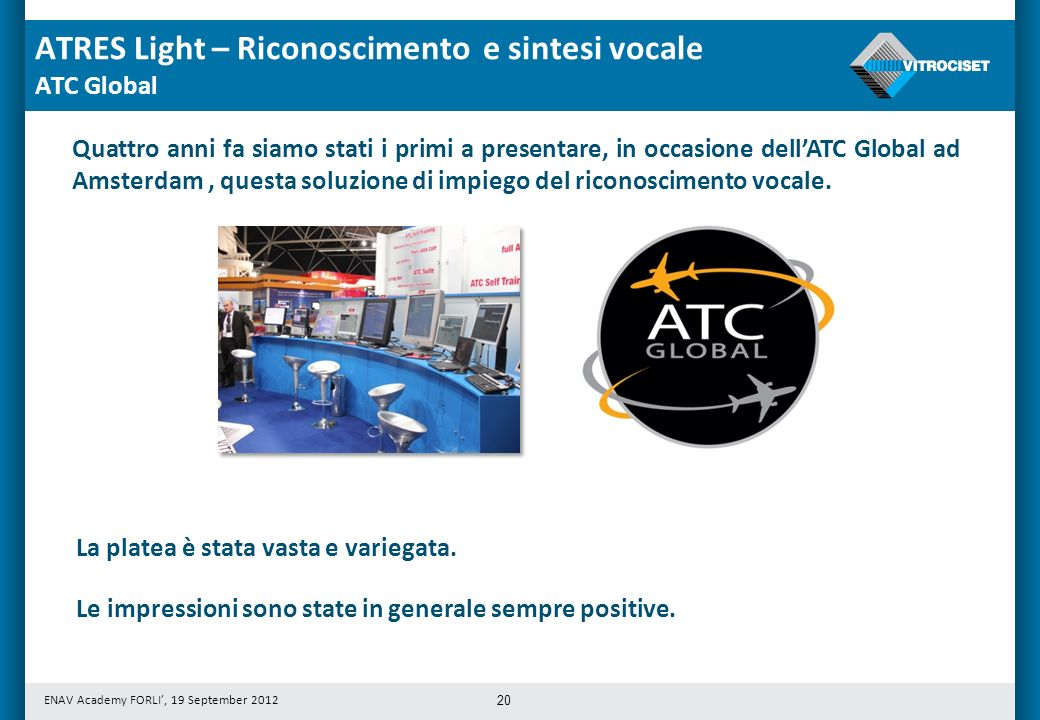 ATRES Light – Riconoscimento e sintesi vocale