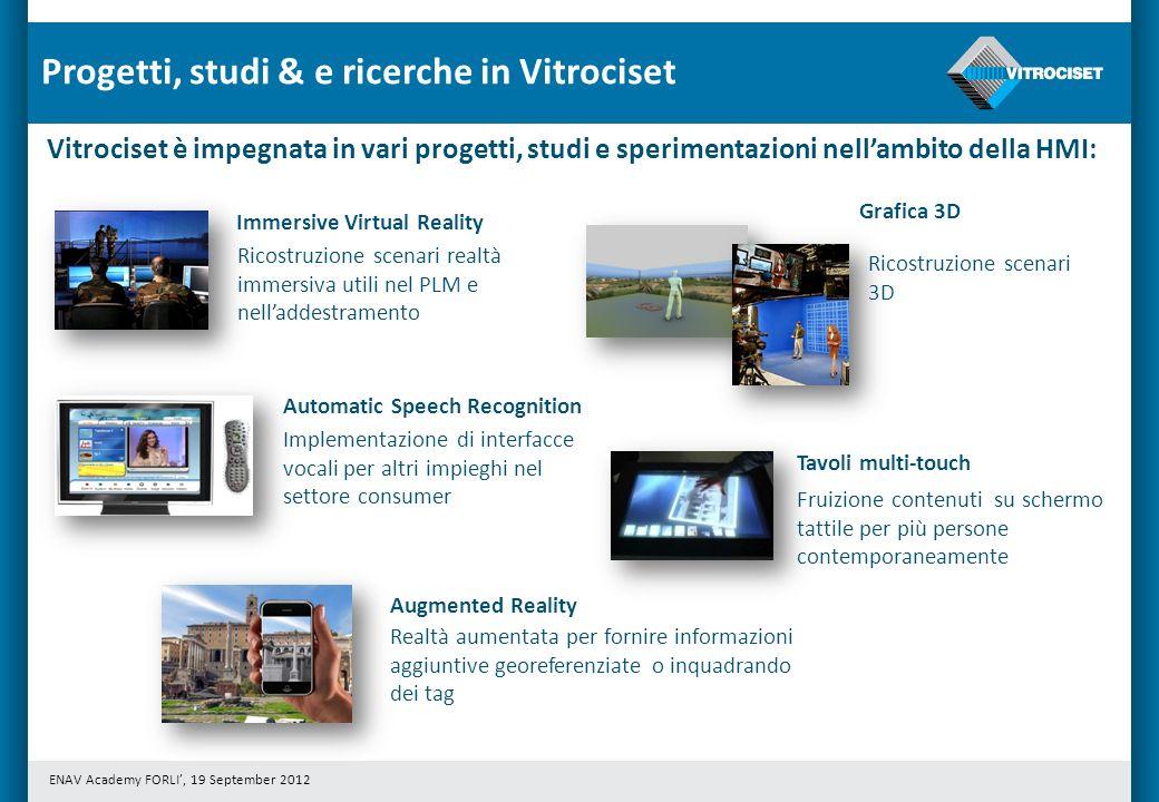 Progetti, studi & e ricerche in Vitrociset