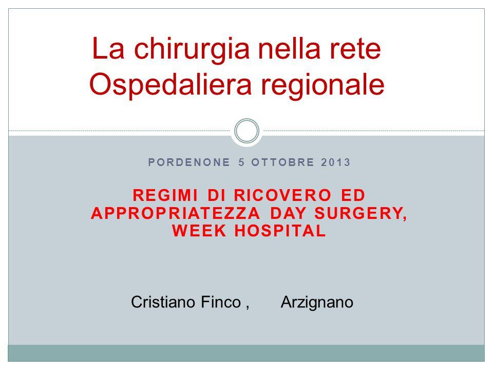 La chirurgia nella rete Ospedaliera regionale