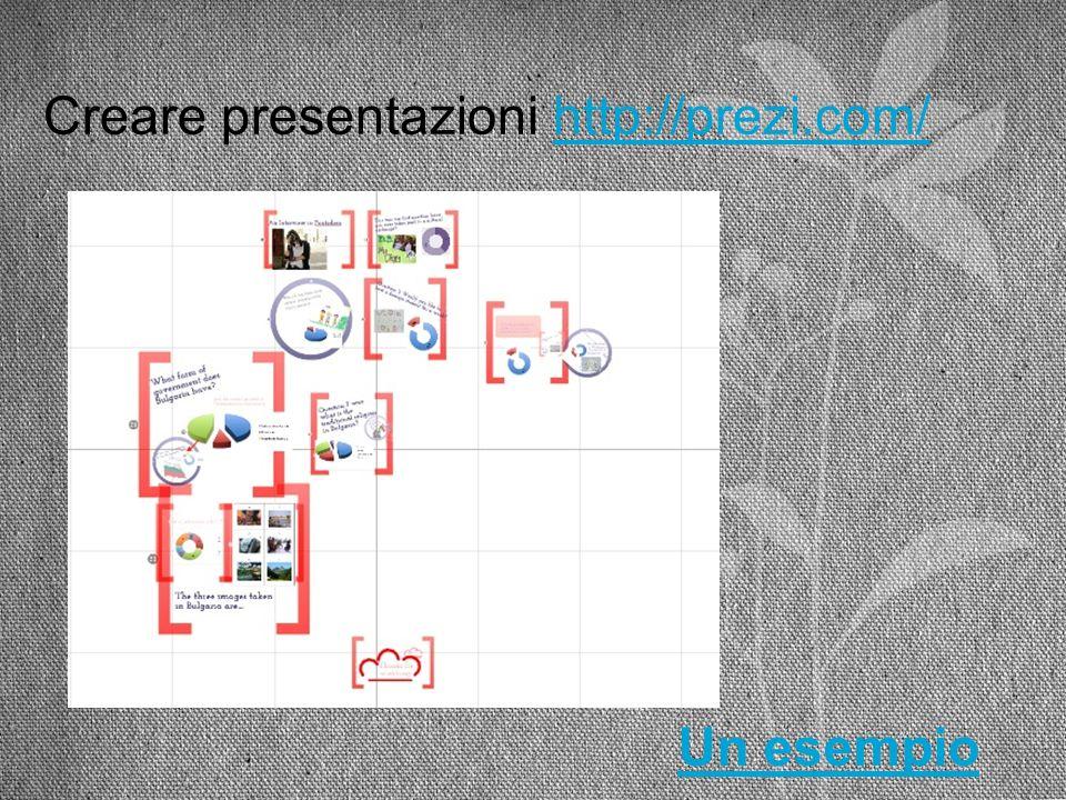 Creare presentazioni http://prezi.com/