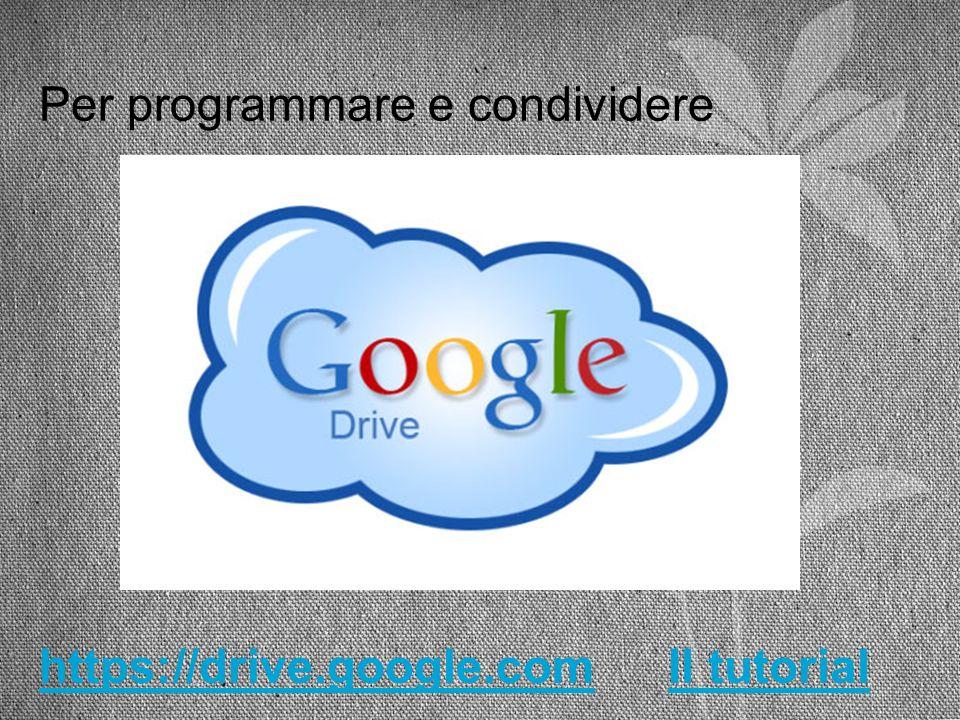 Per programmare e condividere