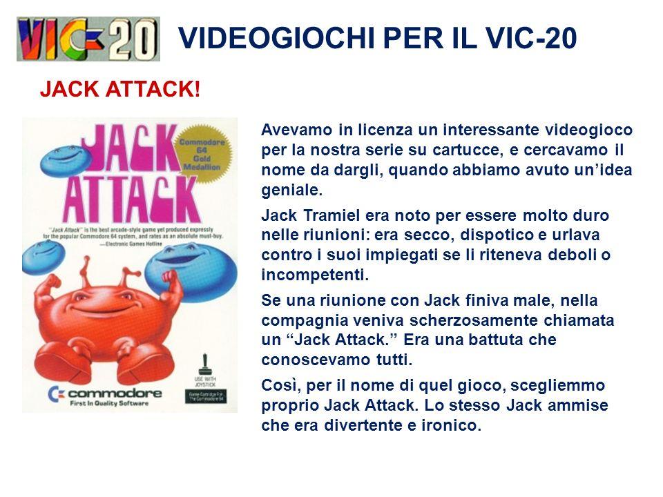 VIDEOGIOCHI PER IL VIC-20