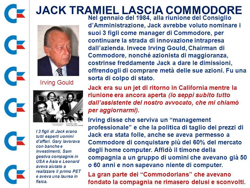 JACK TRAMIEL LASCIA COMMODORE