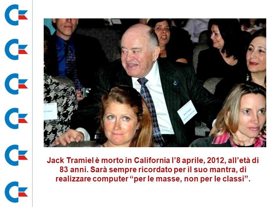 Jack Tramiel è morto in California l'8 aprile, 2012, all'età di 83 anni.