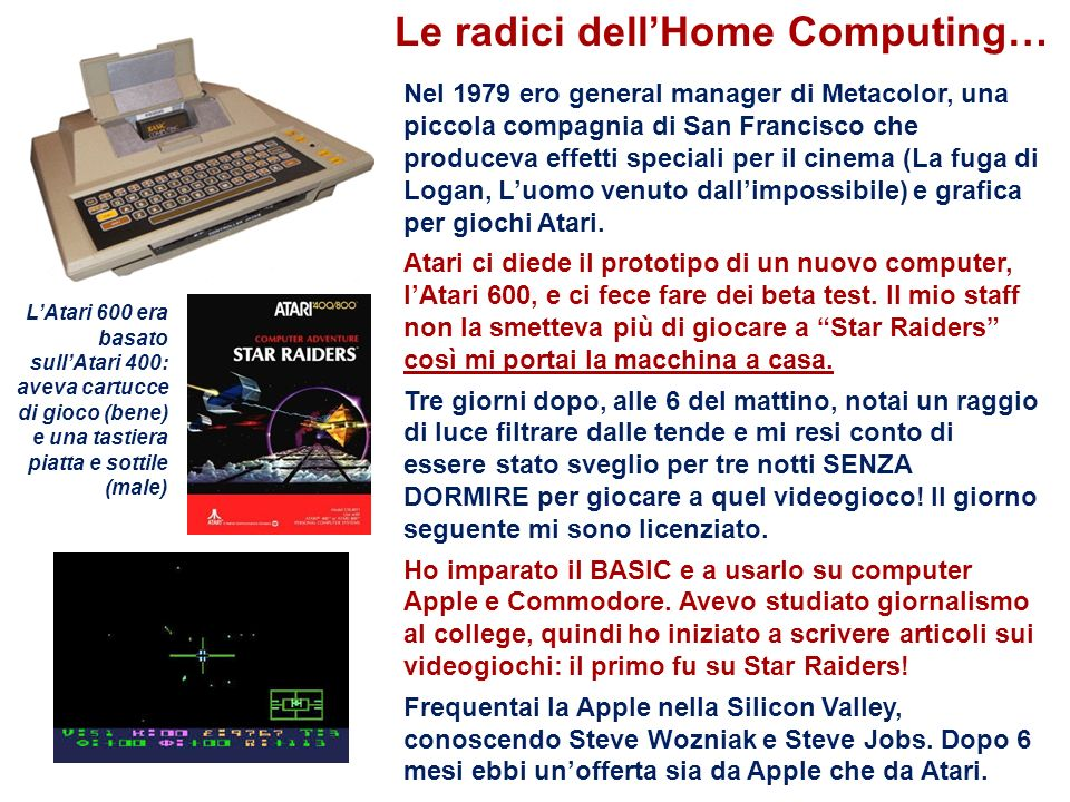 Le radici dell'Home Computing…