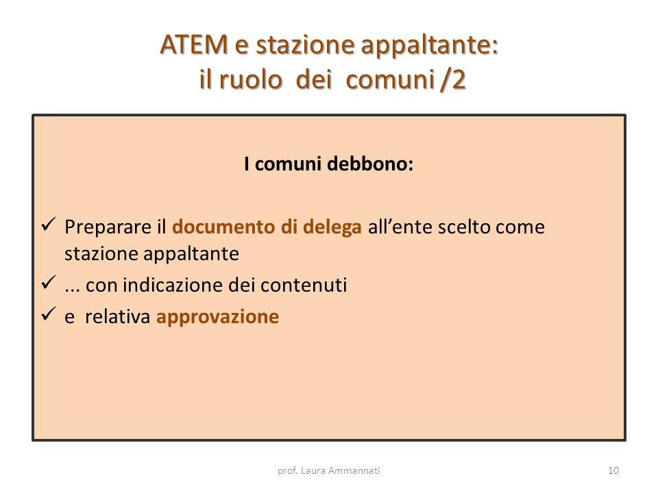 ATEM e stazione appaltante: il ruolo dei comuni /2