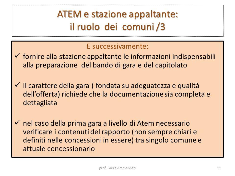 ATEM e stazione appaltante: il ruolo dei comuni /3