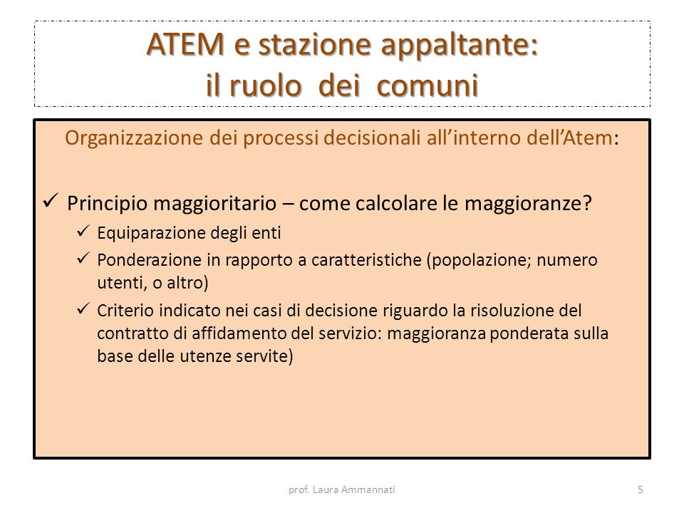 ATEM e stazione appaltante: il ruolo dei comuni