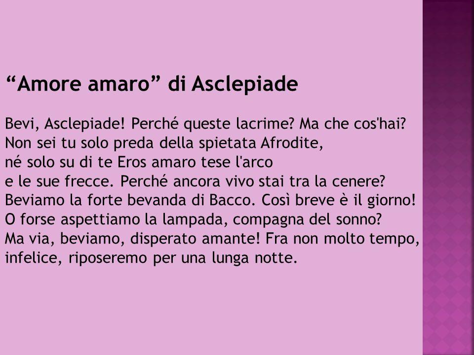 Amore amaro di Asclepiade