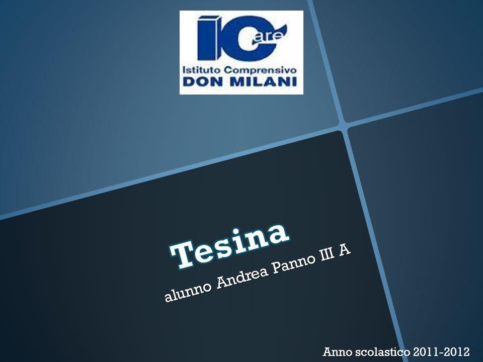 alunno Andrea Panno III A