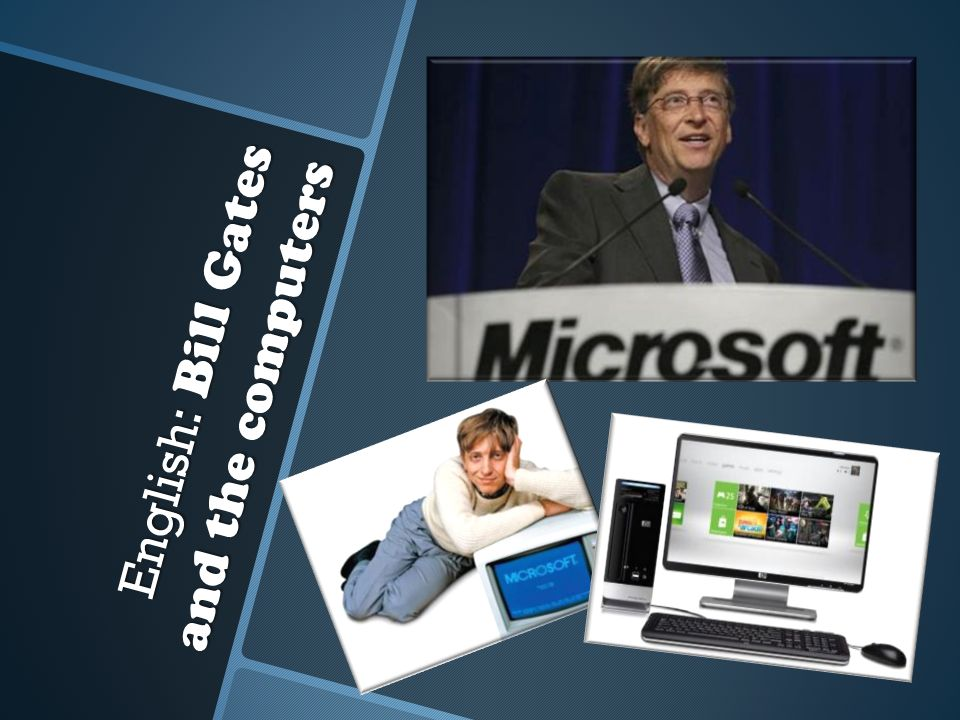 English: Bill Gates and the computers