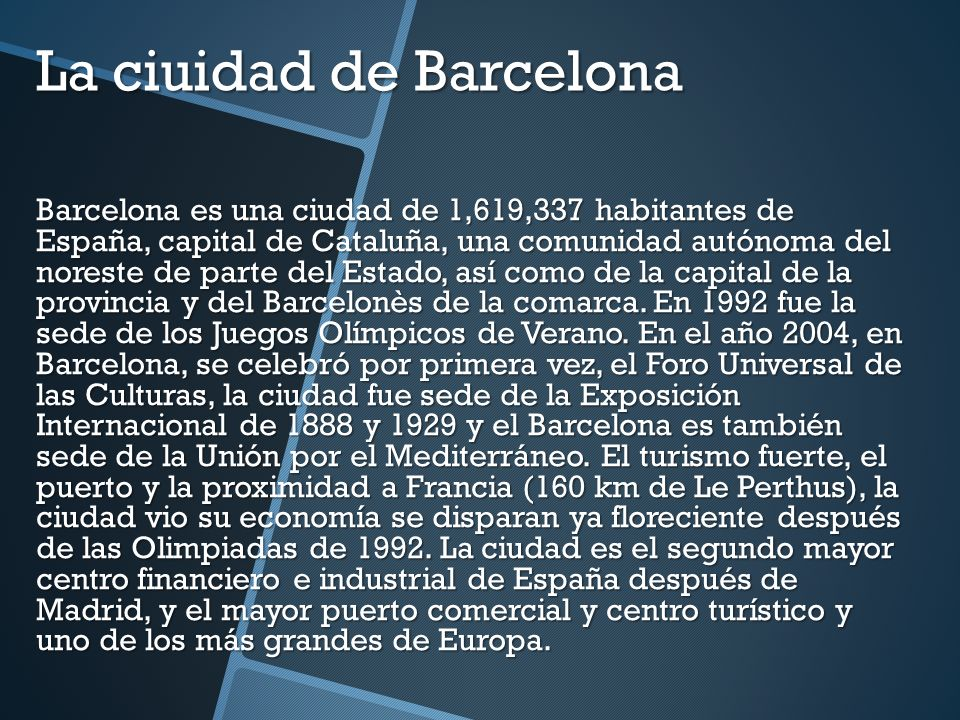 La ciuidad de Barcelona