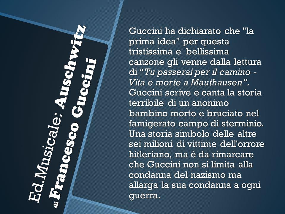 Ed.Musicale: Auschwitz di Francesco Guccini